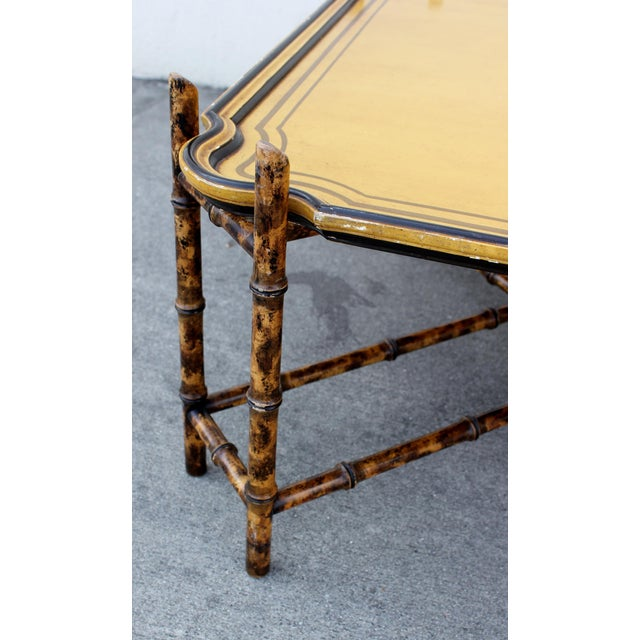 Baker Furniture Faux Bamboo Coffee Table For Sale - Image 5 of 7
