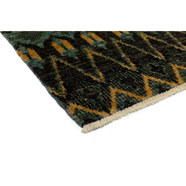 """New Ikat Hand Knotted Area Rug - 10' x 13'8"""" - Image 2 of 3"""