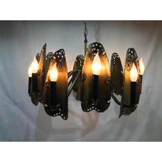 1960s Tom Greene Mid Century Brutalist Chandelier Preview