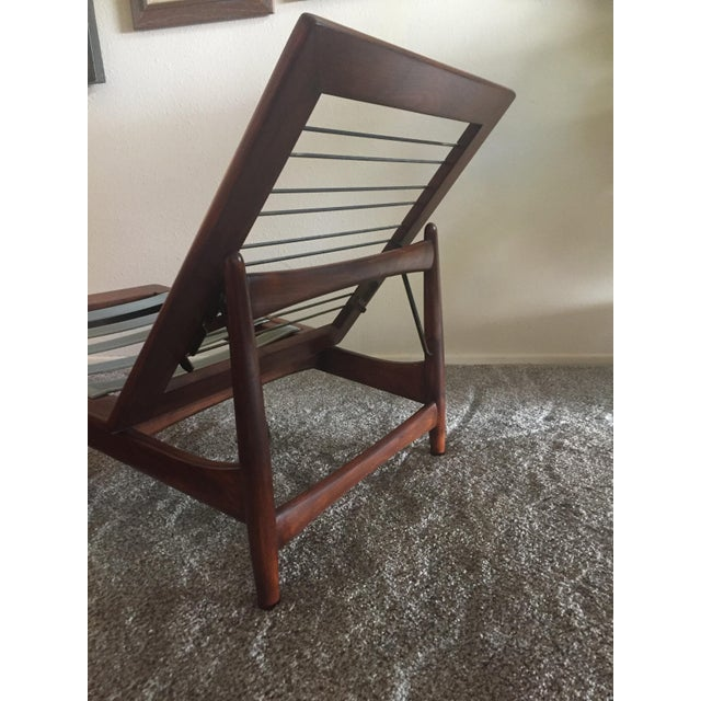 1960s Danish Modern Selig Adjustable Lounge Chair For Sale - Image 11 of 13