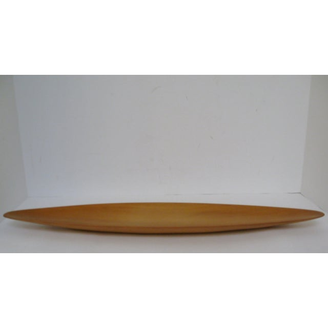 Mid-Century Modern Oval Wood Tray - Image 5 of 7