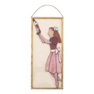 Nutcracker Ballet Stained Glass Panel For Sale