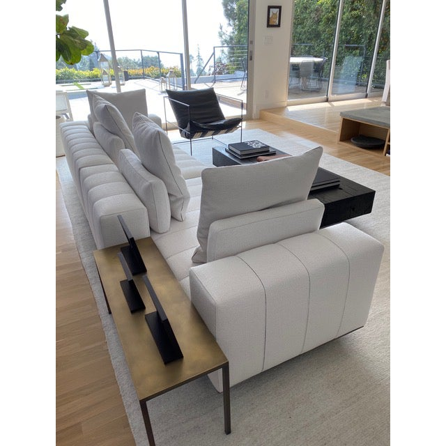 Minotti Minotti Freeman Tailor Sofa Daybed Element + Armrest Element For Sale - Image 4 of 7