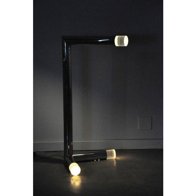 Rare nickel and Lucite floor lamp by Karl Springer.