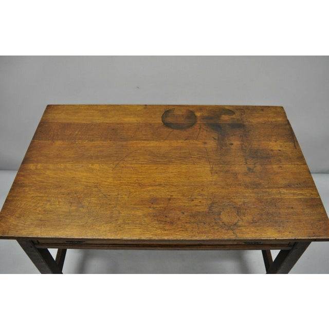 L. & J.G. Stickley, Inc. 1900s Arts and Crafts L & Jg Stickley Library Table/Writing Desk For Sale - Image 4 of 12