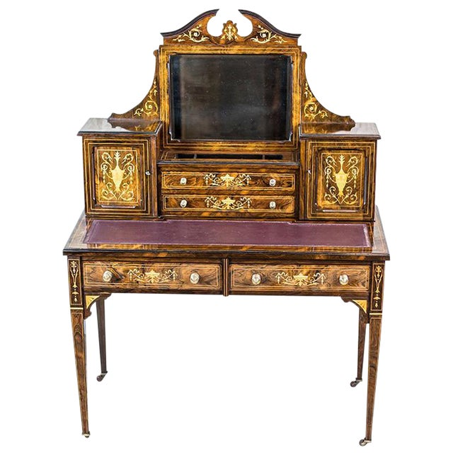 19th Century Lady's Desk Veneered with Rosewood For Sale