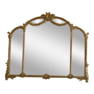 1990s Labarge Gold Gilt Mantle or Sideboard Horizontal Mirror