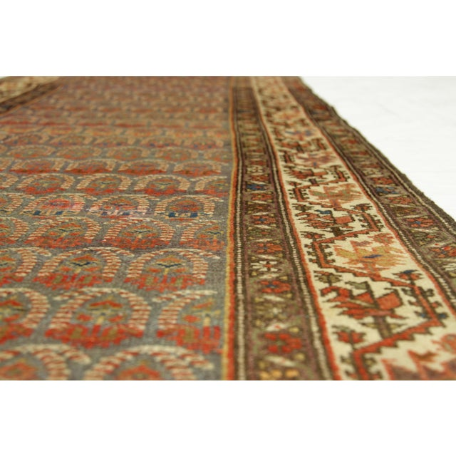 1920s 1920's Twin Antique Persian Rug Malayer Design Circa 1920's - 3′5″ × 19′8″ For Sale - Image 5 of 11