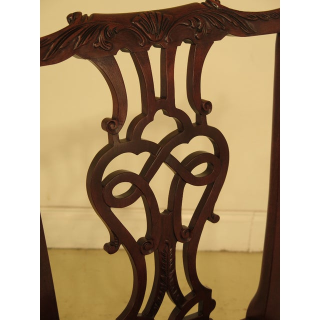 1990s Vintage Baker Chippendale Mahogany Dining Room Chairs- Set of 6 For Sale - Image 4 of 13