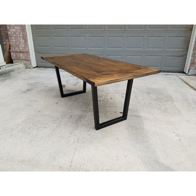 Modern Industrial Dining Table - Image 2 of 5