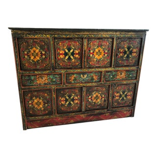 Asian Decorative Sideboard For Sale