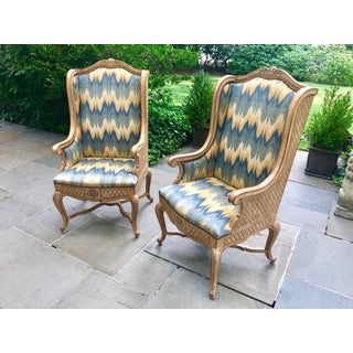 1970s Vintage Auffray Bergere Style Chairs- A Pair Preview