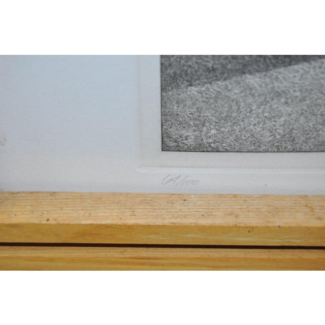 David Becker Pencil Signed Etching C.1970s For Sale - Image 10 of 11