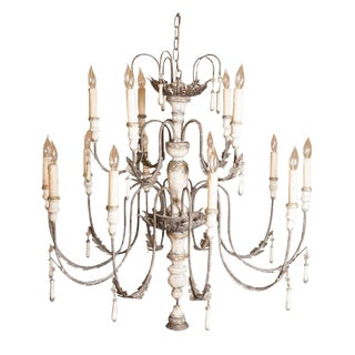 Large Venetian Fifteen-Light Chandelier For Sale
