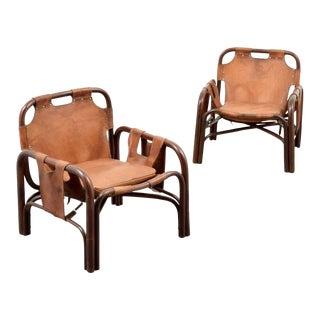 Pair of Vittorio Bonacita Lounge Chairs For Sale