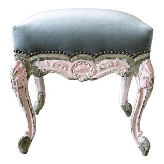 19th Century French Louis XV Style Painted Vanity Stool