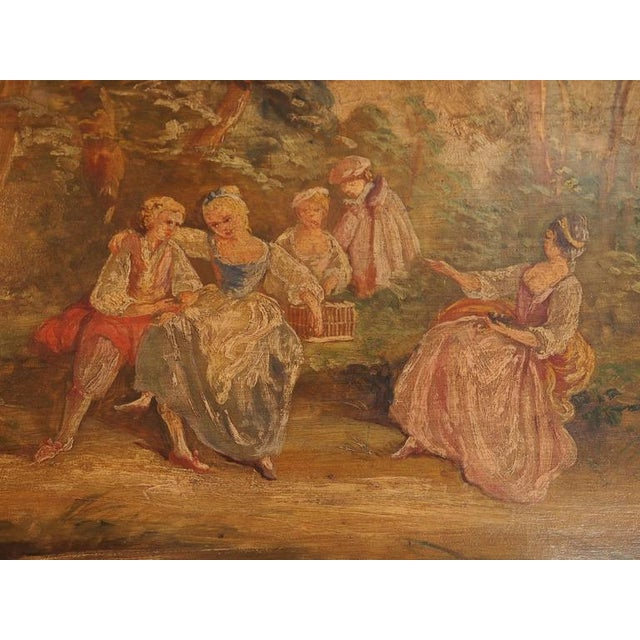 Antique French Painted Trumeau - Image 3 of 6