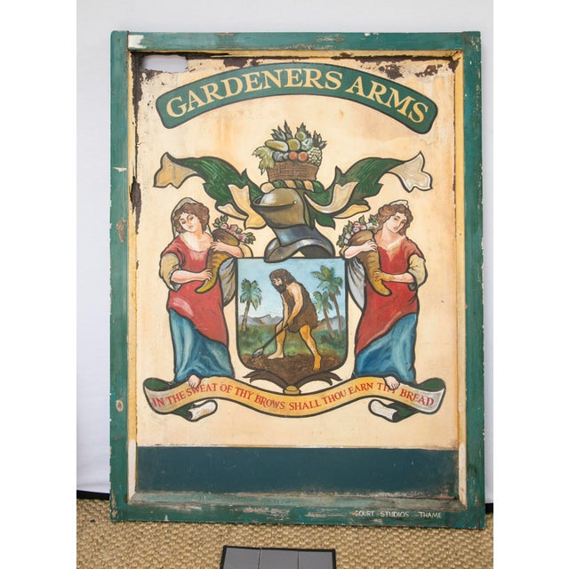 """English """"Gardeners Arms"""" Pub Sign - Image 2 of 7"""
