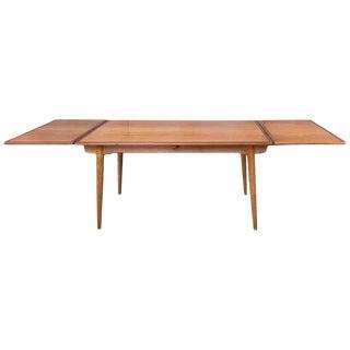 Hans J. Wegner for Andreas Tuck At-312 Teak & Oak Expandable Dining Table, 1960s For Sale