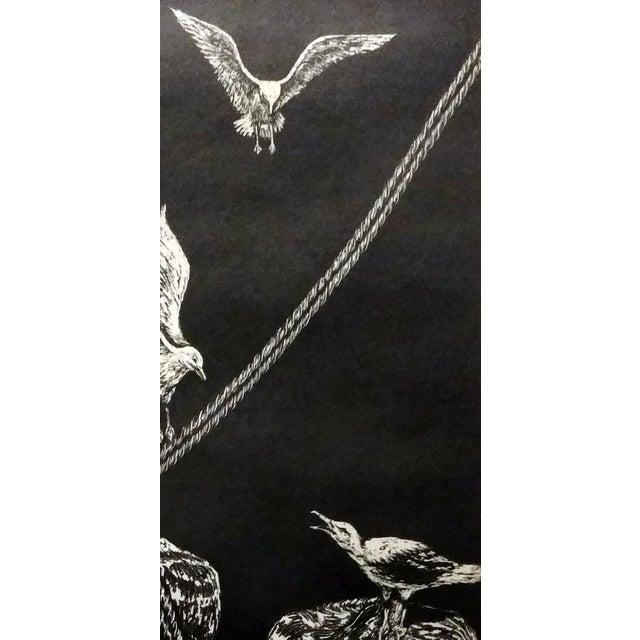 "Jane Heckett ""Seagulls"" Knife Etching - Image 2 of 9"