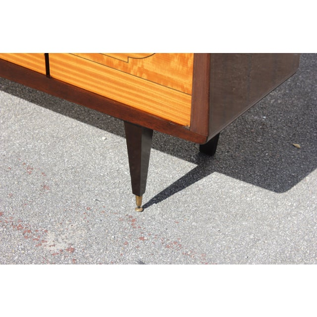 1940s French Art Deco Mahogany Sideboard For Sale In Miami - Image 6 of 13