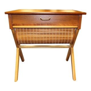 1960s Danish Mid-Century Sewing Table