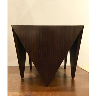 John Richard Art Deco Inspired Macassar Ebony Finished Wood Amara Point Side Tables Pair Preview
