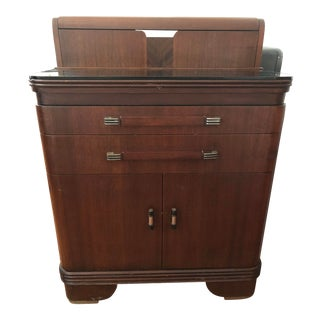1930s Art Deco Hamilton Walnut Medical Cabinet