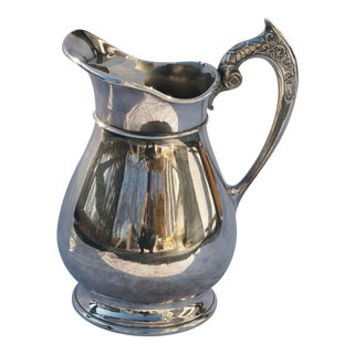 Antique Quadruple Silver Plated Water Pitcher by Rockford Silver Co. For Sale