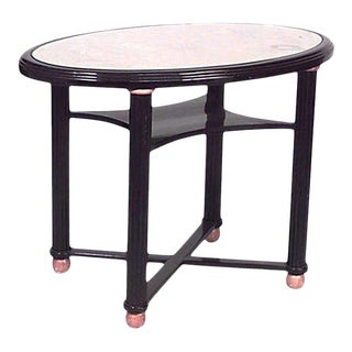 Austrian Biedermeier Ebonized Center Table For Sale