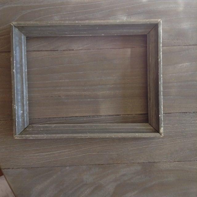 Vintage Gray Wood Frame - Image 2 of 4