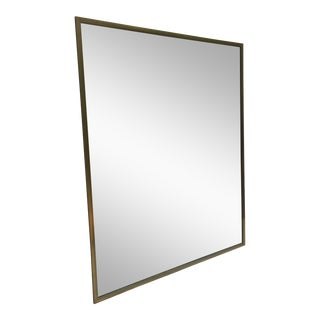 Large Vintage Wall Mirror With Gold Finish For Sale