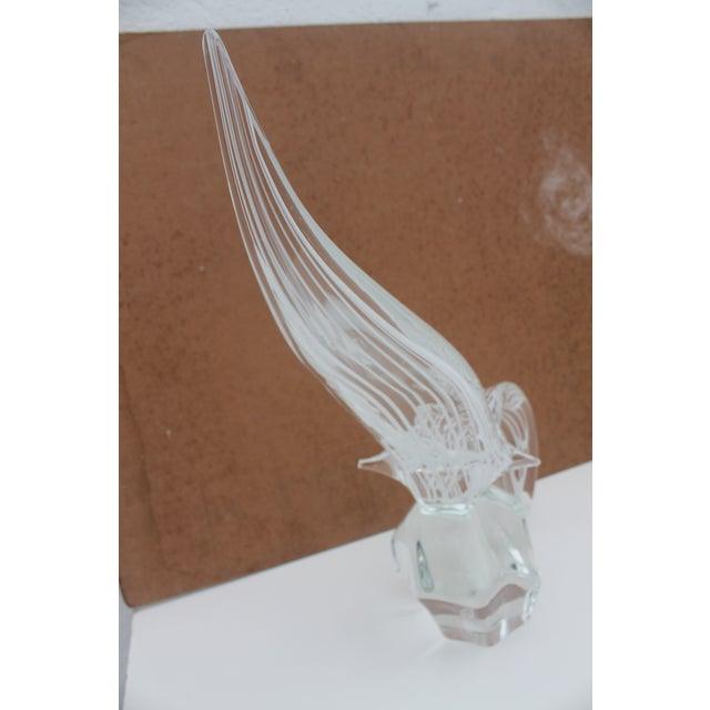 Vintage Art Murano Glass Bird Figure Sculpture By Yanilk L. For Sale - Image 5 of 8