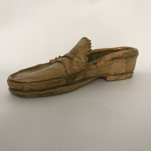 Americana Pottery Loafer Sculpture For Sale - Image 3 of 11