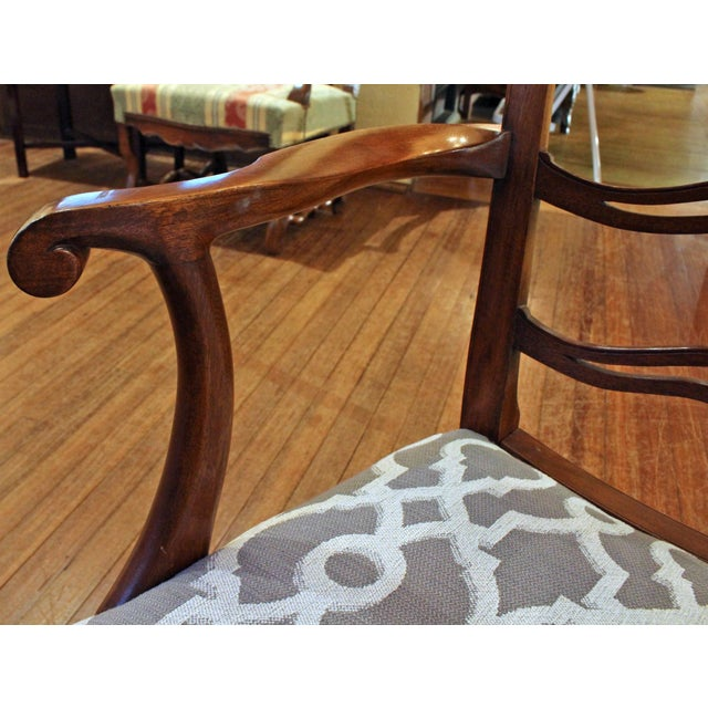 Brown Chippendale Dining Chairs - Set of 8 For Sale - Image 8 of 9