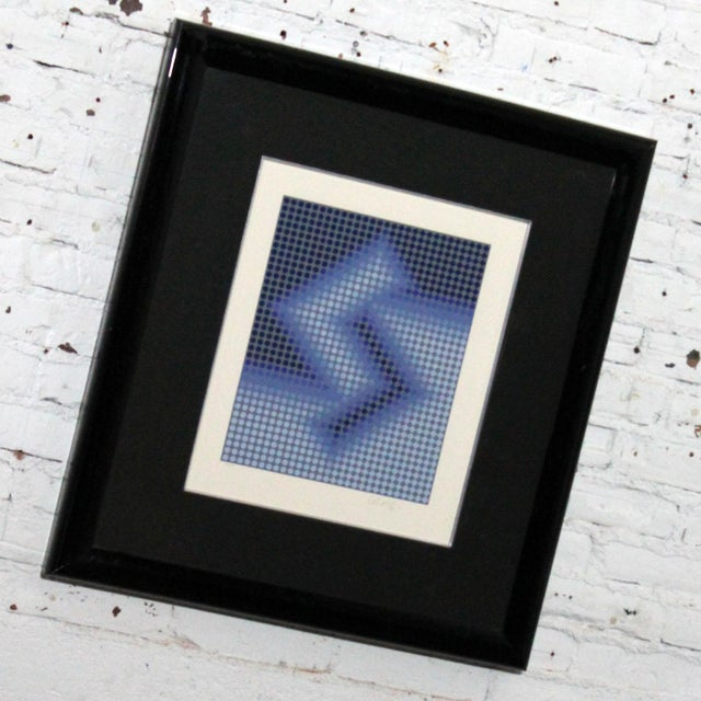 Incredible serigraph by world renowned Kinetic and Op Art artist, Victor Vasarely printed at Atelier Arcay, Paris, France....