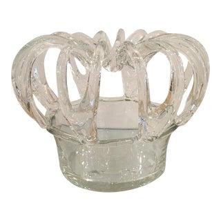 Antique Steuben Crystal Crown Form Centerpiece Vase For Sale