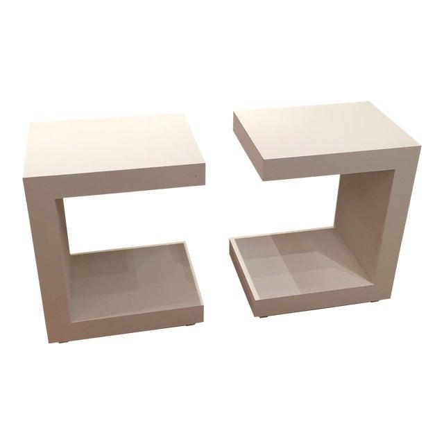 Bungalow 5 Linen Side Tables- a Pair For Sale