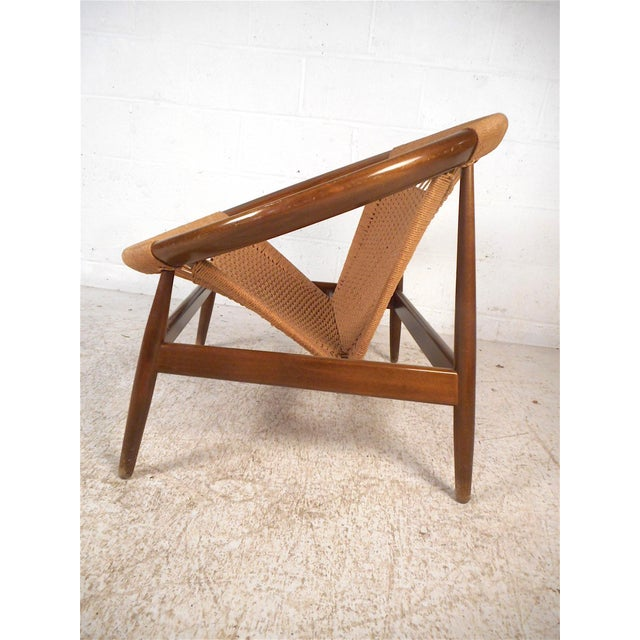 """Mid-Century Modern Danish Modern """"Ringstol"""" Hoop Chair by Illum Wikkelsø For Sale - Image 3 of 12"""