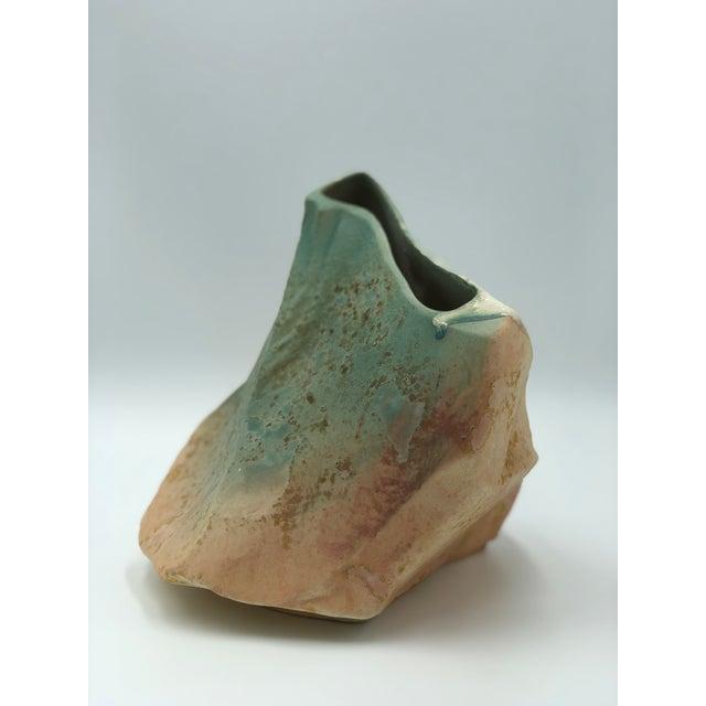 Tony Evans Tony Evans Raku Pottery Vase For Sale - Image 4 of 7