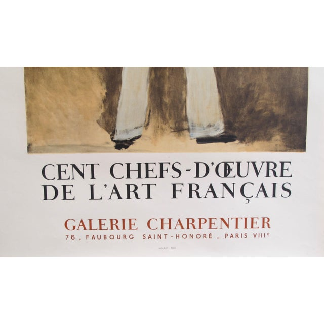 French 1961 Original French Exhibition Poster - Cent Chefs-d'Oeuvre De l'Art Français - Galerie Charpentier For Sale - Image 3 of 4
