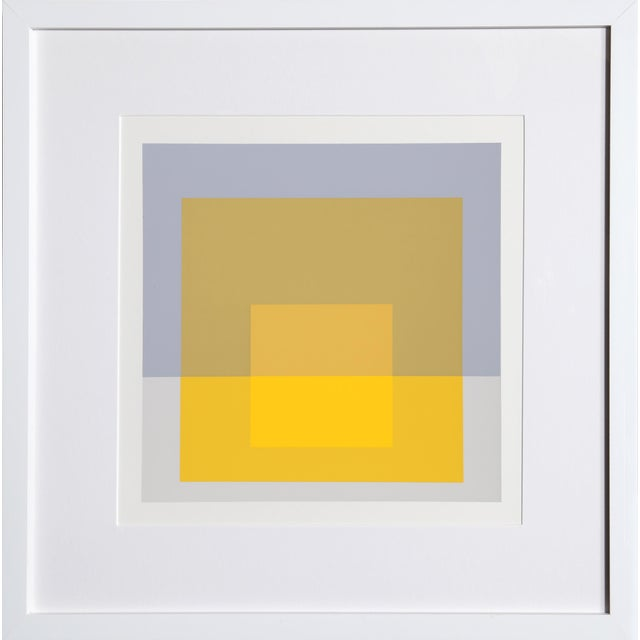 Josef Albers - Portfolio 2, Folder 5, Image 1 Framed Silkscreen For Sale