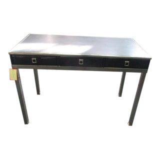 1970s Space Age Guy Lefevre Lacquered Writing Desk For Sale