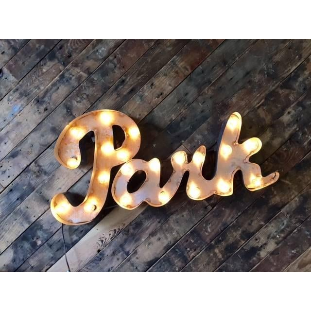 Industrial Metal Custom Park Light Sign - Image 2 of 4