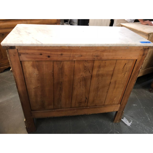 19th Century French Country Louis Philippe Marble Top Commode For Sale In Atlanta - Image 6 of 7