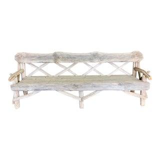 Antique Primitive Extra Long Bench For Sale