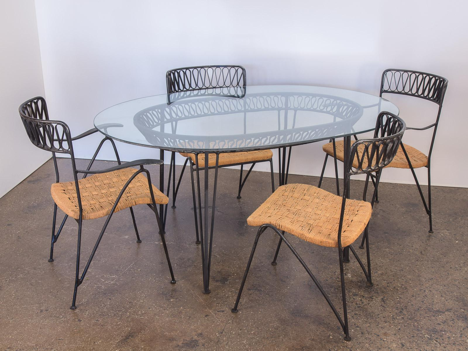Bon Salterini Woven Ribbon Chairs And Table Patio Set   Image 2 Of 11