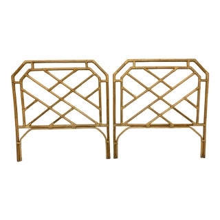 1970s Chinoiserie Bamboo Headboards - a Pair For Sale