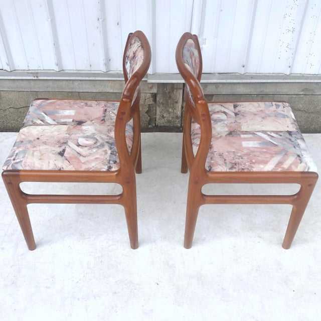 Mid-Century Modern Sculpted Teak Dining Chairs- Set of Four For Sale - Image 11 of 13