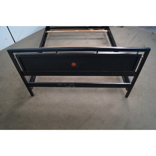 Tung Si Collection Ebonized Black & Teak Full Bed - Image 4 of 10